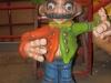 23. figuur hoge hoed oranje groen 90x120 cm